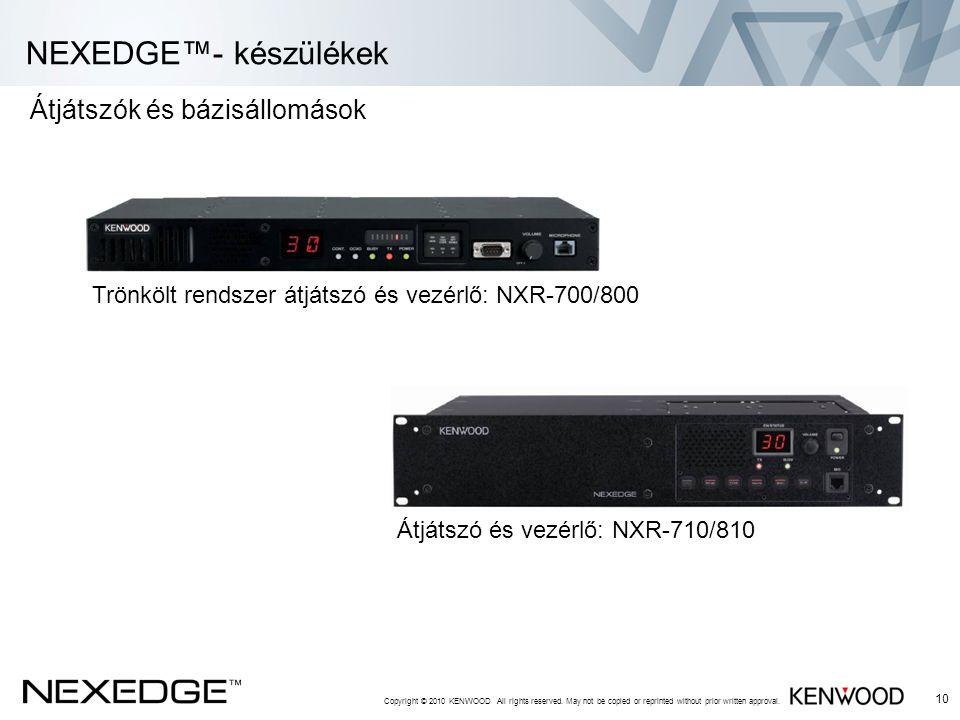 NEXEDGE™- készülékek Átjátszók és bázisállomások