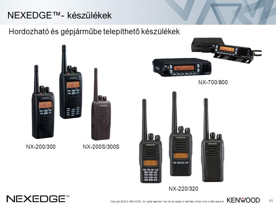 NEXEDGE™- készülékek Hordozható és gépjárműbe telepíthető készülékek