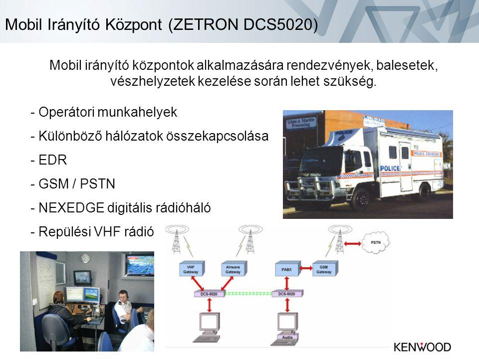 Mobil Irányító Központ (ZETRON DCS5020)