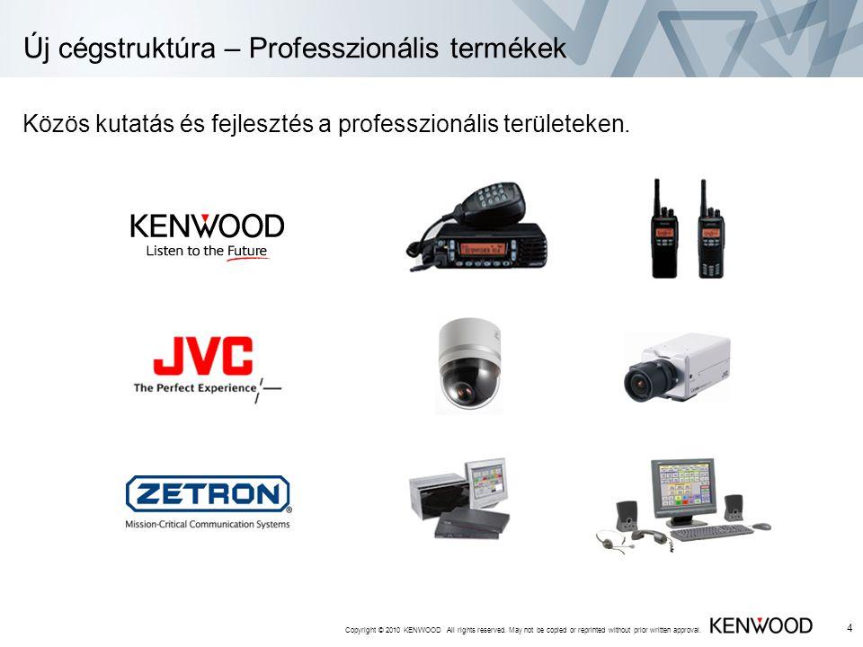 Új cégstruktúra – Professzionális termékek