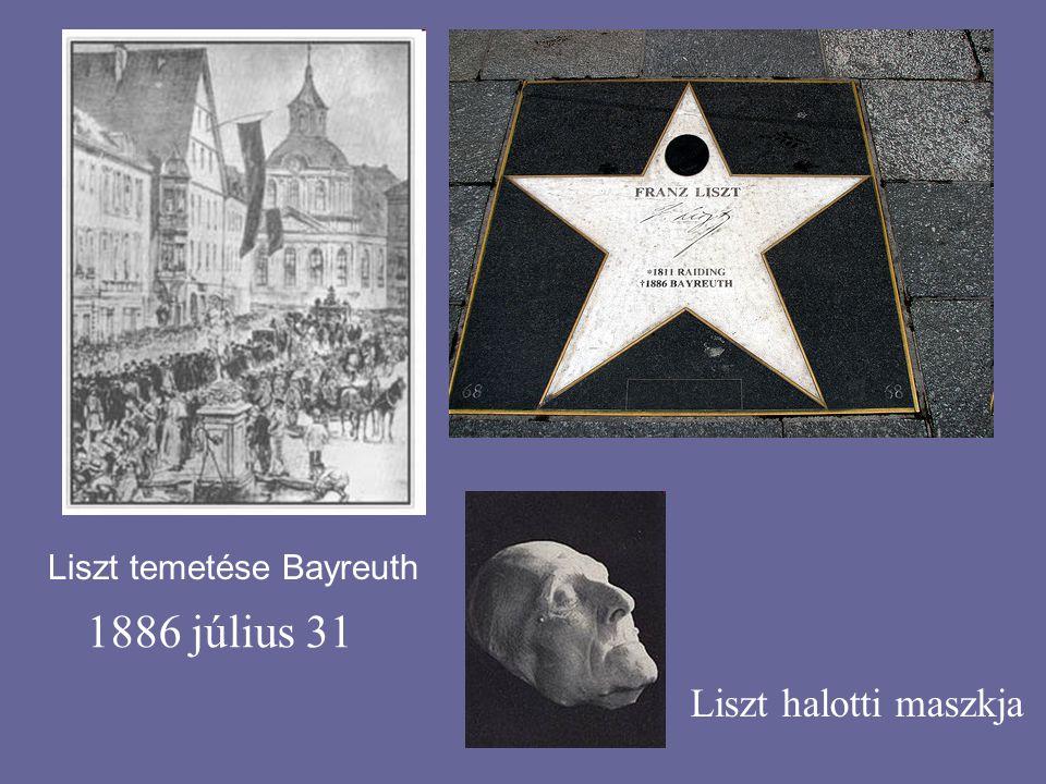 Liszt temetése Bayreuth