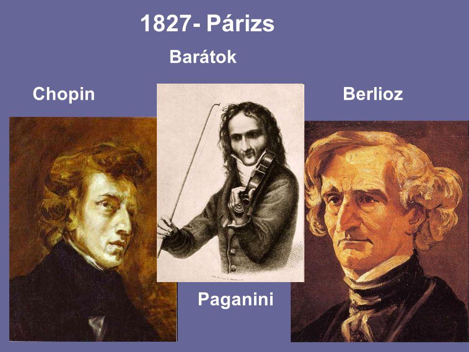 1827- Párizs Barátok Chopin Berlioz Paganini