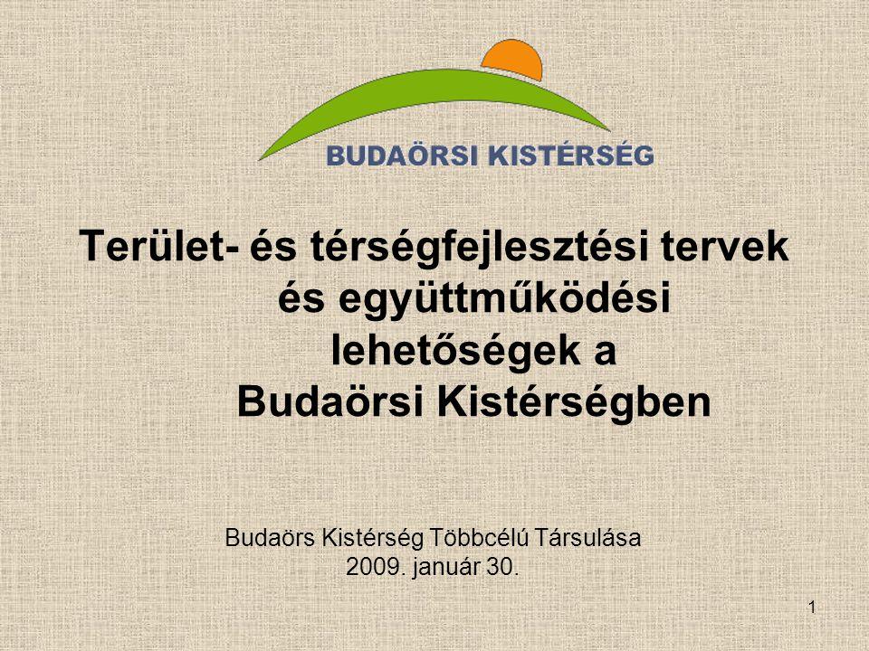 Budaörs Kistérség Többcélú Társulása 2009. január 30.