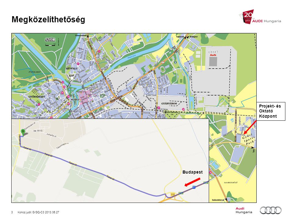 Megközelíthetőség Projekt- és Oktató Központ Budapest