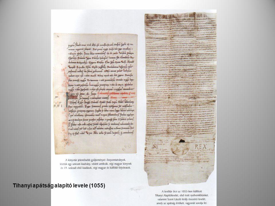 Tihanyi apátság alapító levele (1055)