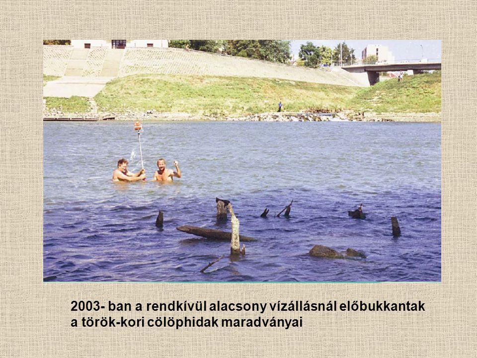2003- ban a rendkívül alacsony vízállásnál előbukkantak