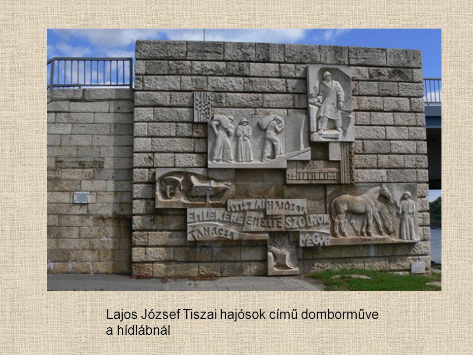 Lajos József Tiszai hajósok című domborműve