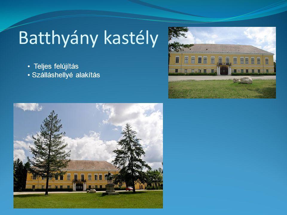 Batthyány kastély Teljes felújítás Szálláshellyé alakítás