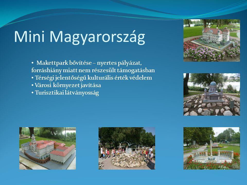 Mini Magyarország Makettpark bővítése – nyertes pályázat, forráshiány miatt nem részesült támogatásban.