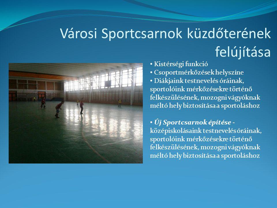 Városi Sportcsarnok küzdőterének felújítása