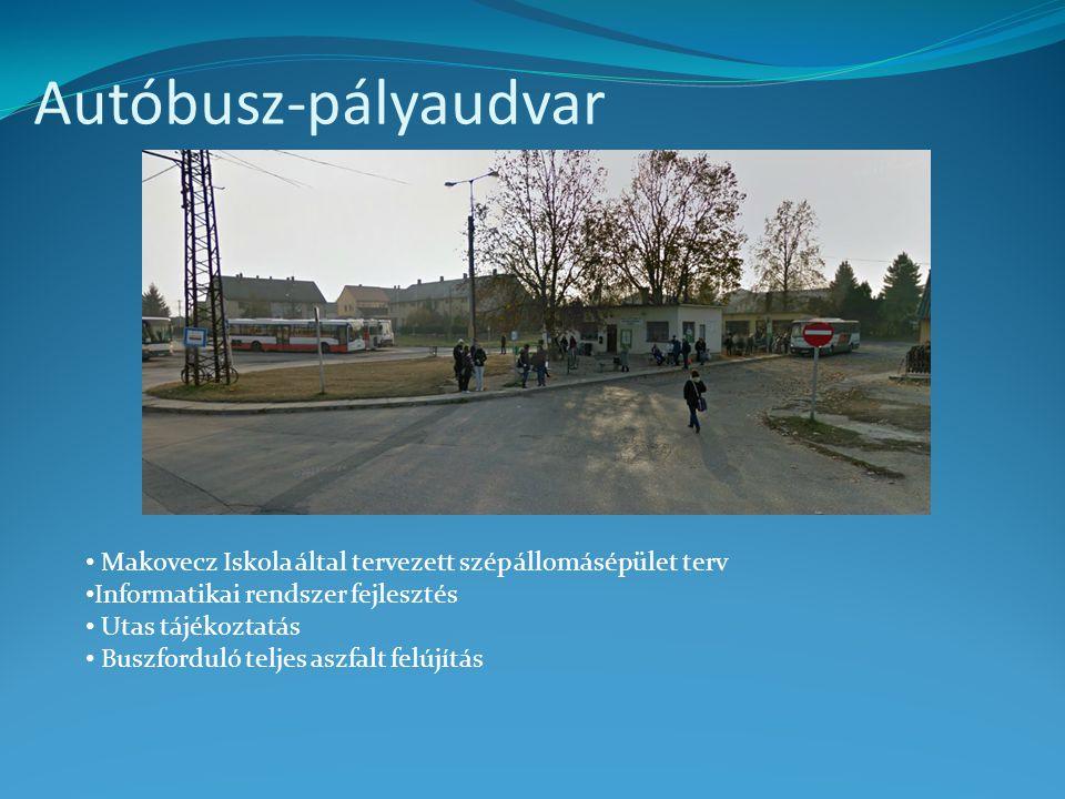 Autóbusz-pályaudvar Makovecz Iskola által tervezett szép állomásépület terv. Informatikai rendszer fejlesztés.