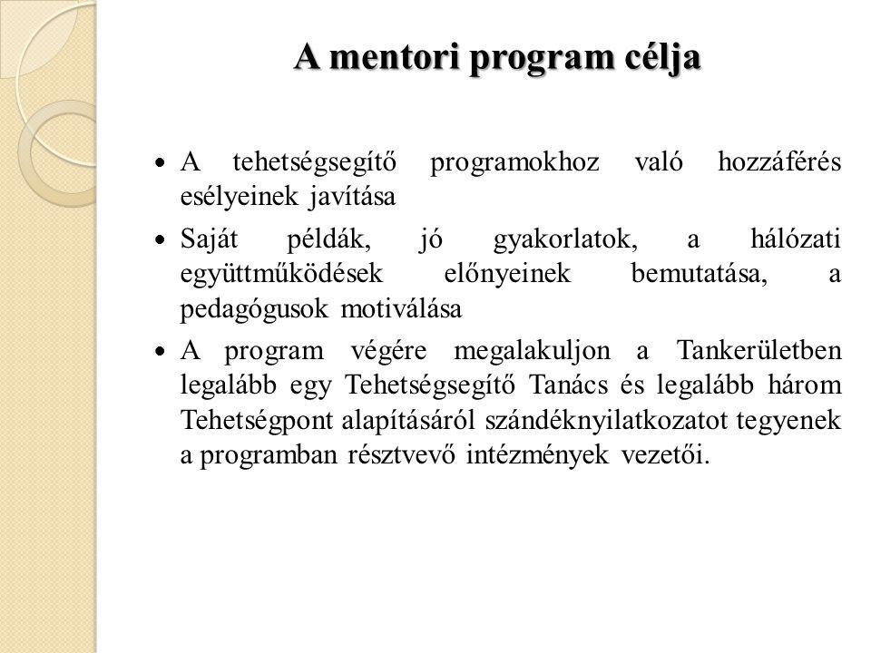 A mentori program célja