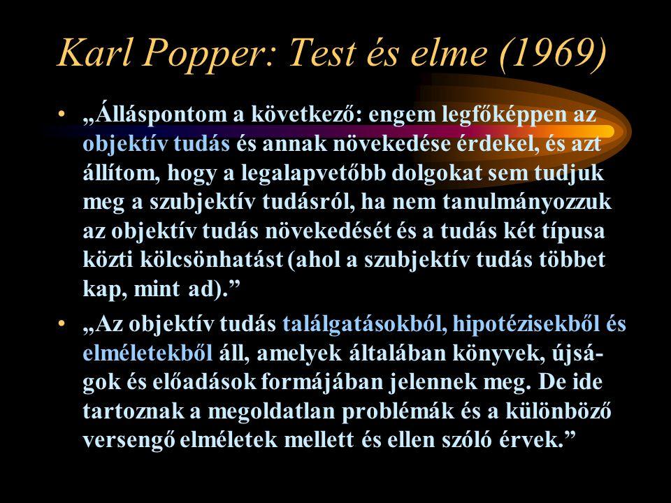 Karl Popper: Test és elme (1969)