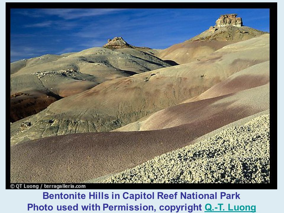 Bentonite Hills in Capitol Reef National Park Photo used with Permission, copyright Q.-T. Luong