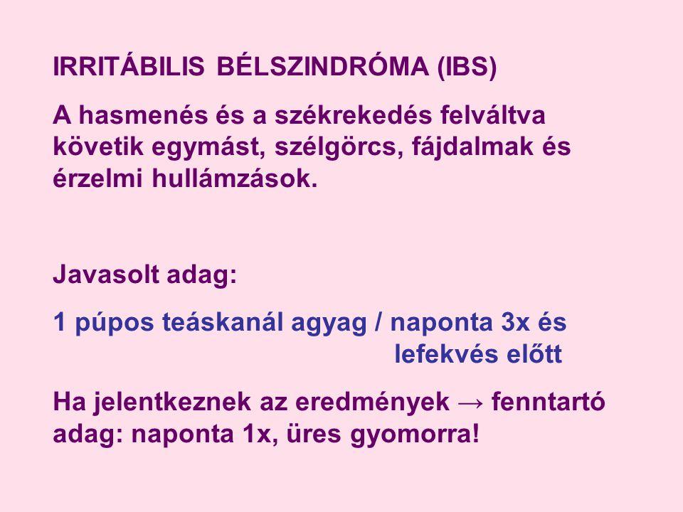 IRRITÁBILIS BÉLSZINDRÓMA (IBS)