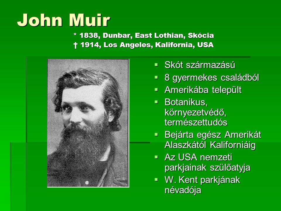John Muir. 1838, Dunbar, East Lothian, Skócia