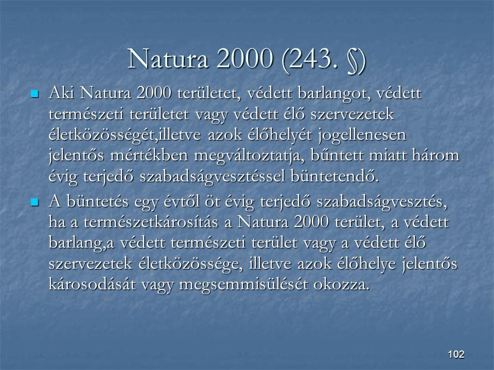 Natura 2000 (243. §)