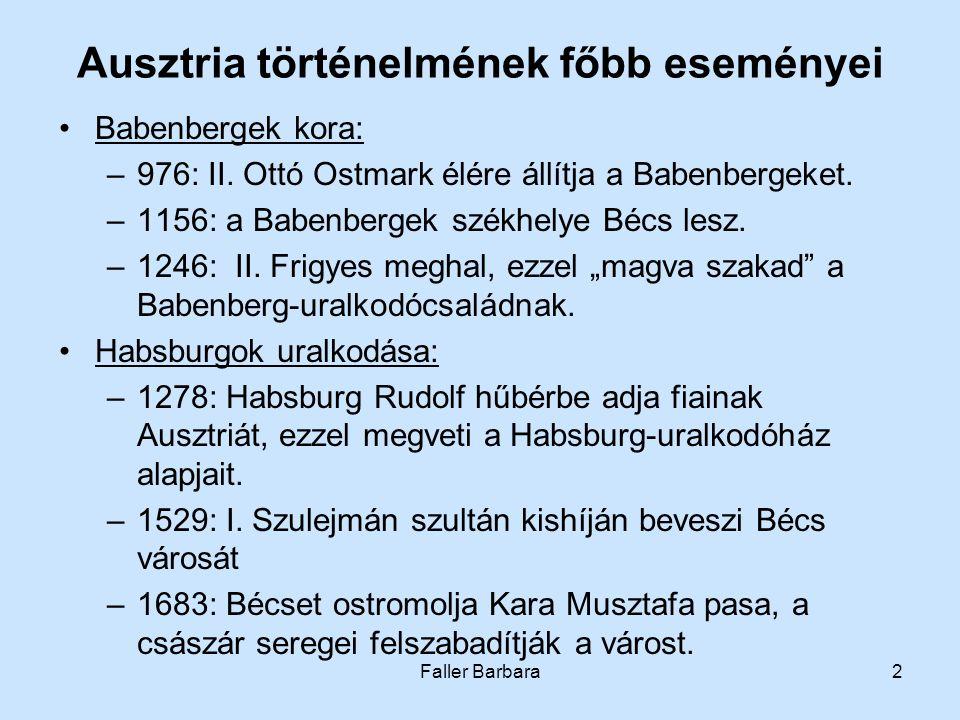 Ausztria történelmének főbb eseményei