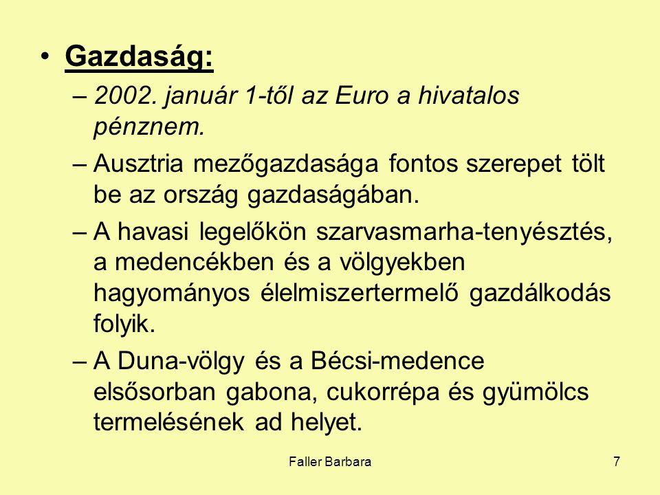 Gazdaság: 2002. január 1-től az Euro a hivatalos pénznem.