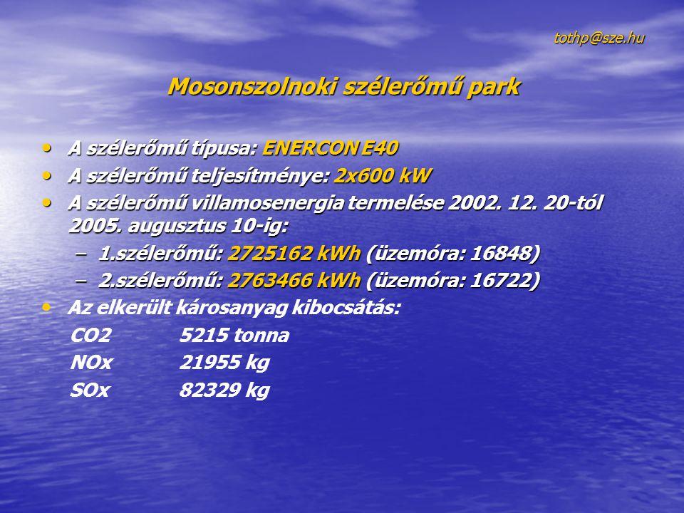 Mosonszolnoki szélerőmű park