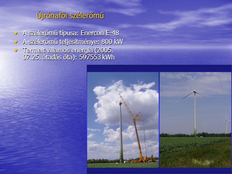 Újrónafői szélerőmű A szélerőmű típusa: Enercon E-48