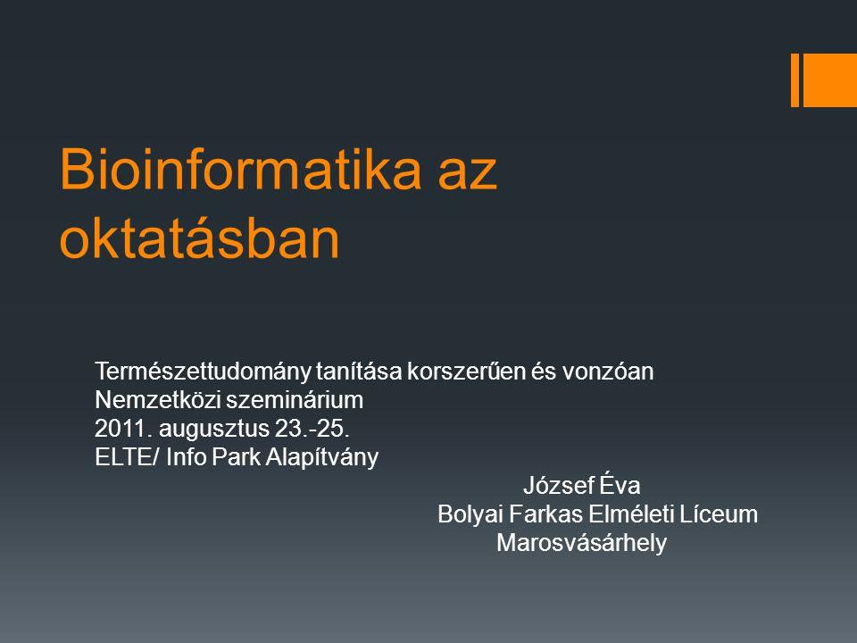 Bioinformatika az oktatásban