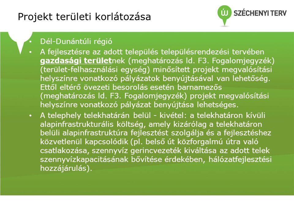Projekt területi korlátozása