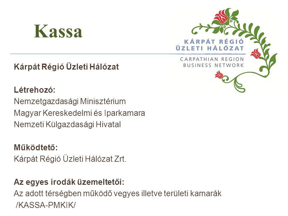 Kassa Kárpát Régió Üzleti Hálózat Létrehozó: