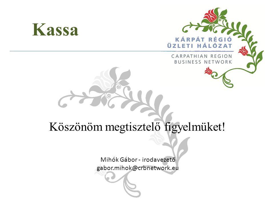 Mihók Gábor - irodavezető