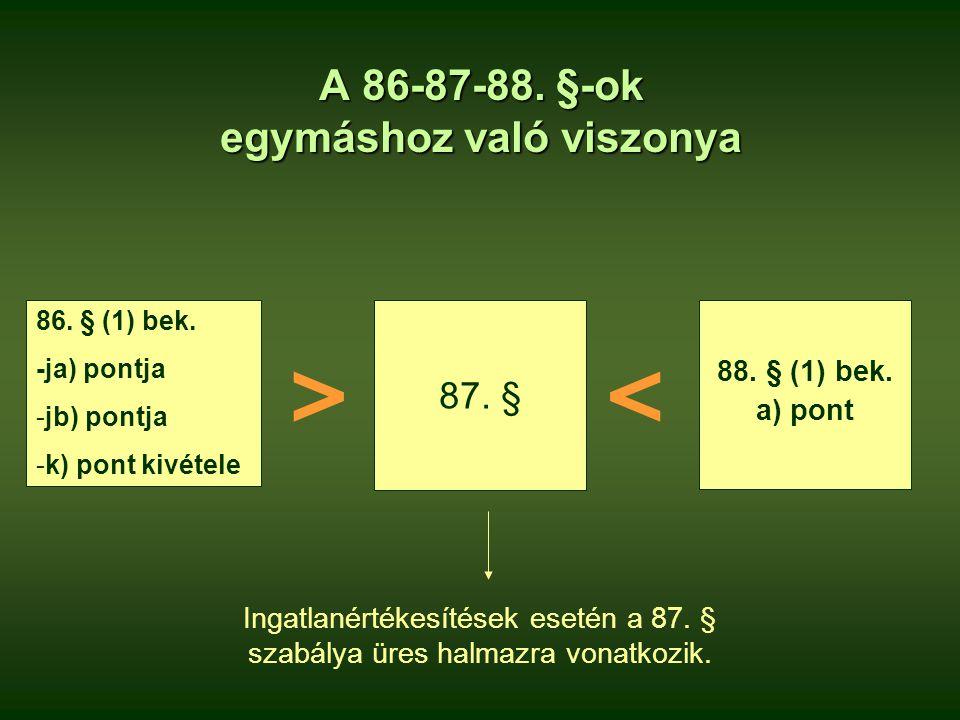 A 86-87-88. §-ok egymáshoz való viszonya