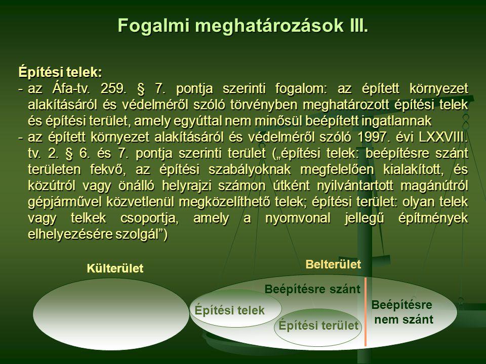 Fogalmi meghatározások III.