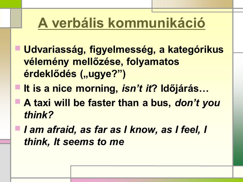 A verbális kommunikáció