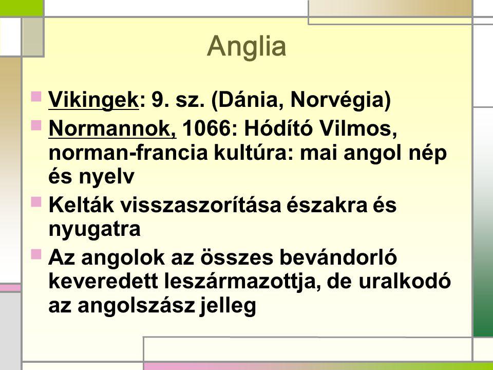 Anglia Vikingek: 9. sz. (Dánia, Norvégia)