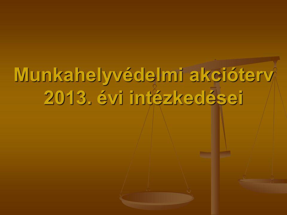 Munkahelyvédelmi akcióterv 2013. évi intézkedései