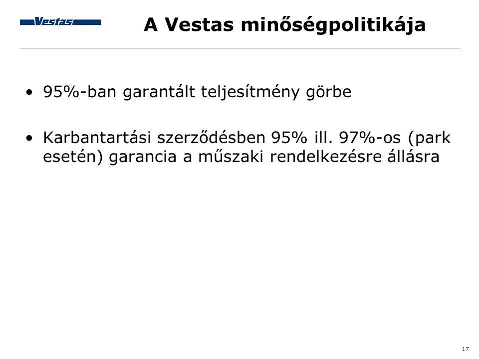 A Vestas minőségpolitikája