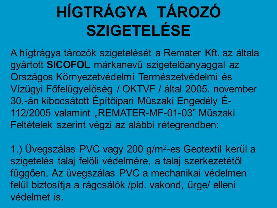 HÍGTRÁGYA TÁROZÓ SZIGETELÉSE