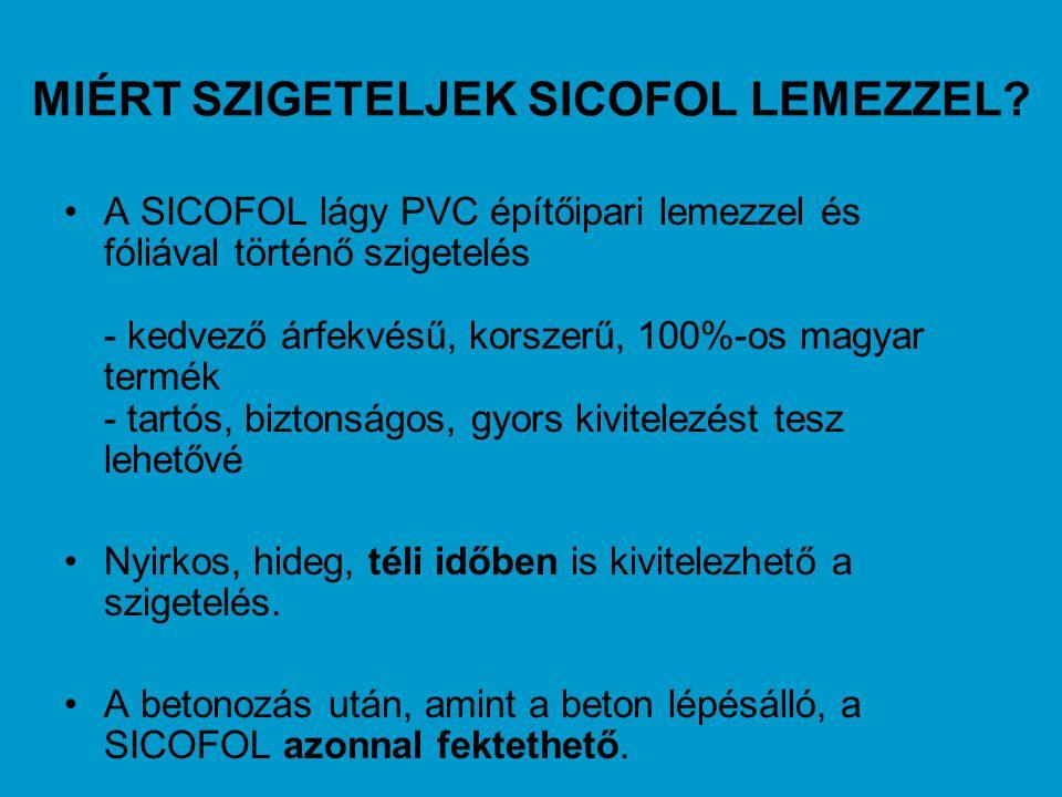 MIÉRT SZIGETELJEK SICOFOL LEMEZZEL
