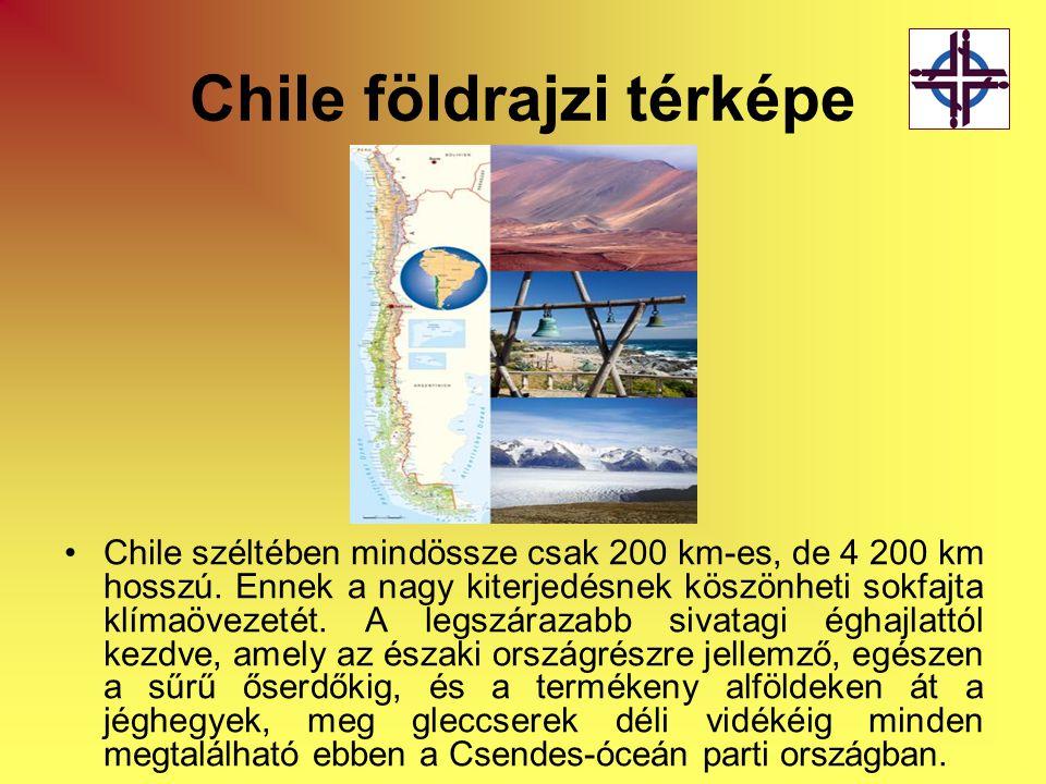 Chile földrajzi térképe