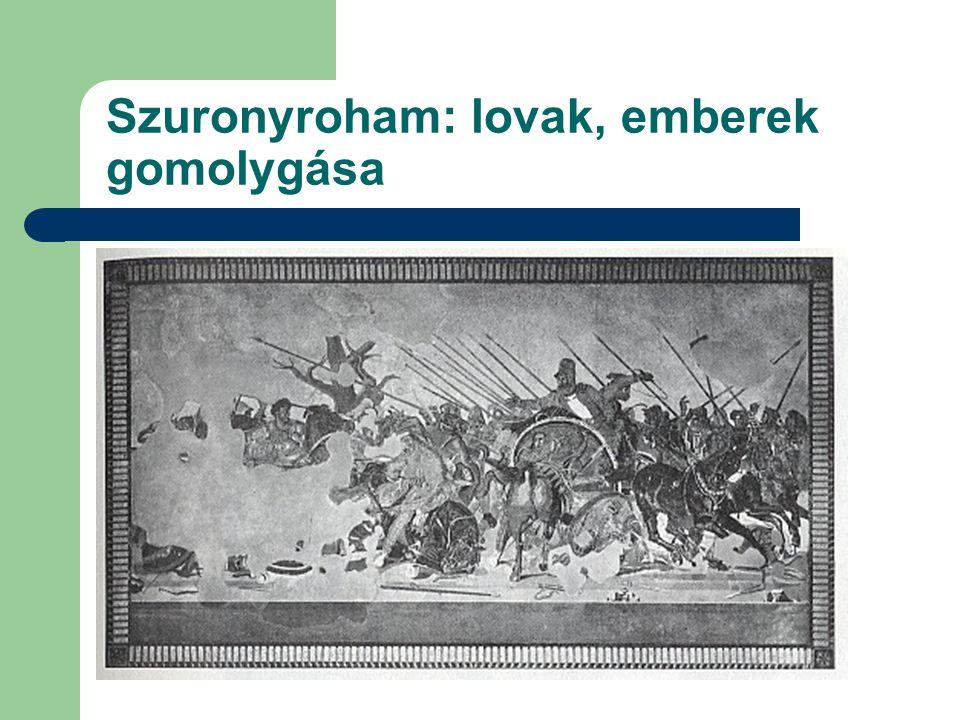 Szuronyroham: lovak, emberek gomolygása