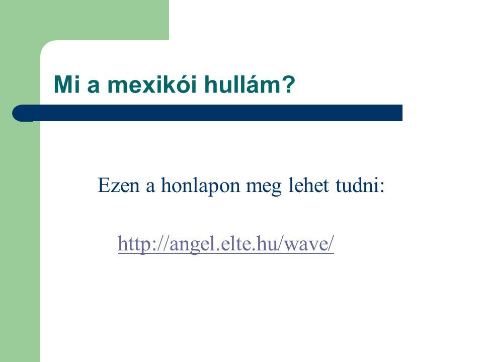 Mi a mexikói hullám Ezen a honlapon meg lehet tudni: