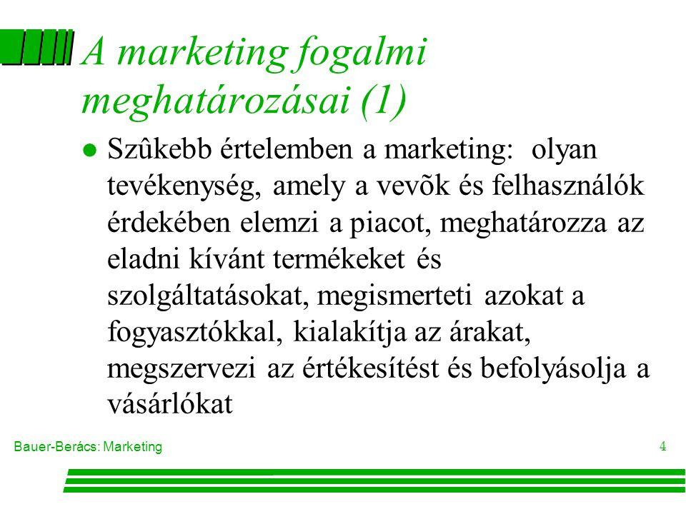A marketing fogalmi meghatározásai (1)