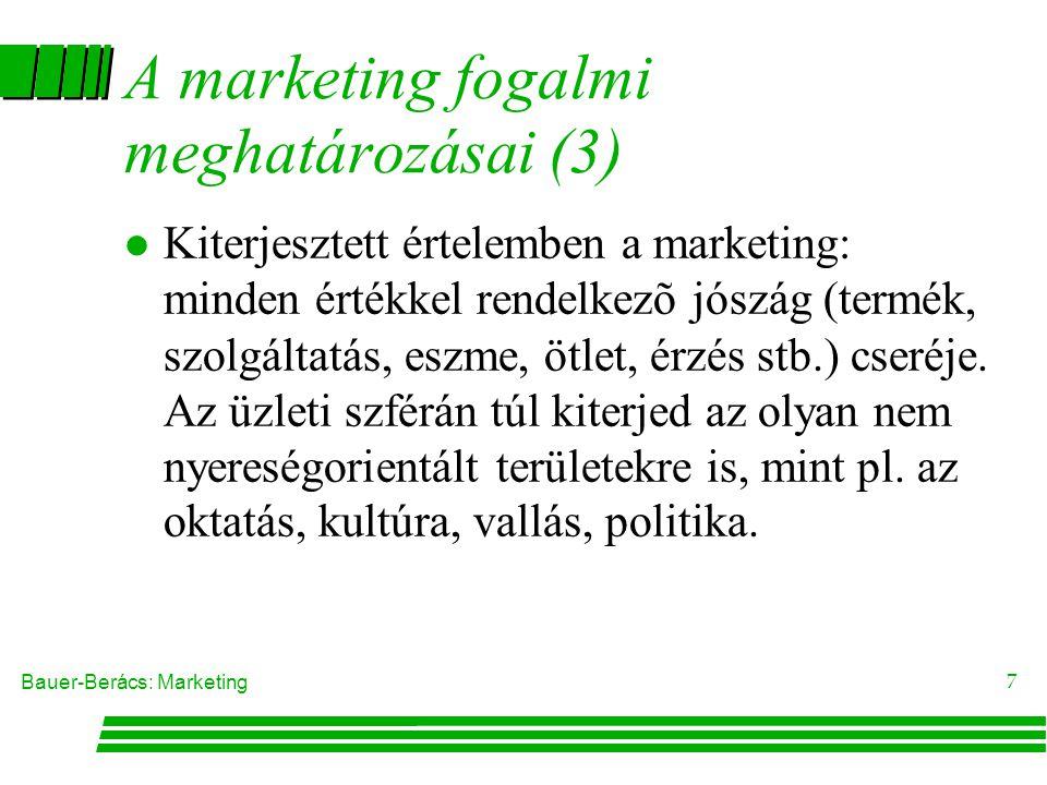 A marketing fogalmi meghatározásai (3)
