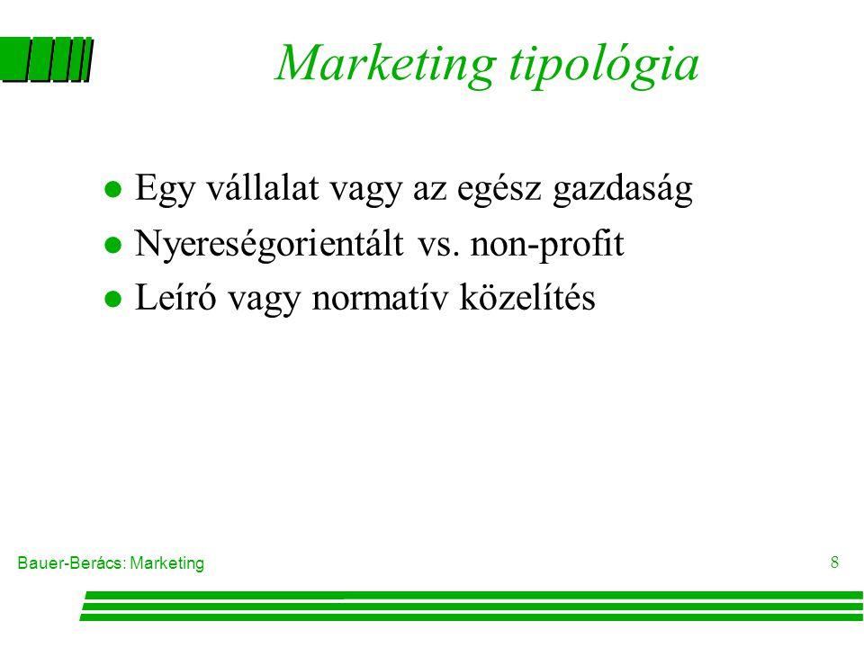 Marketing tipológia Egy vállalat vagy az egész gazdaság