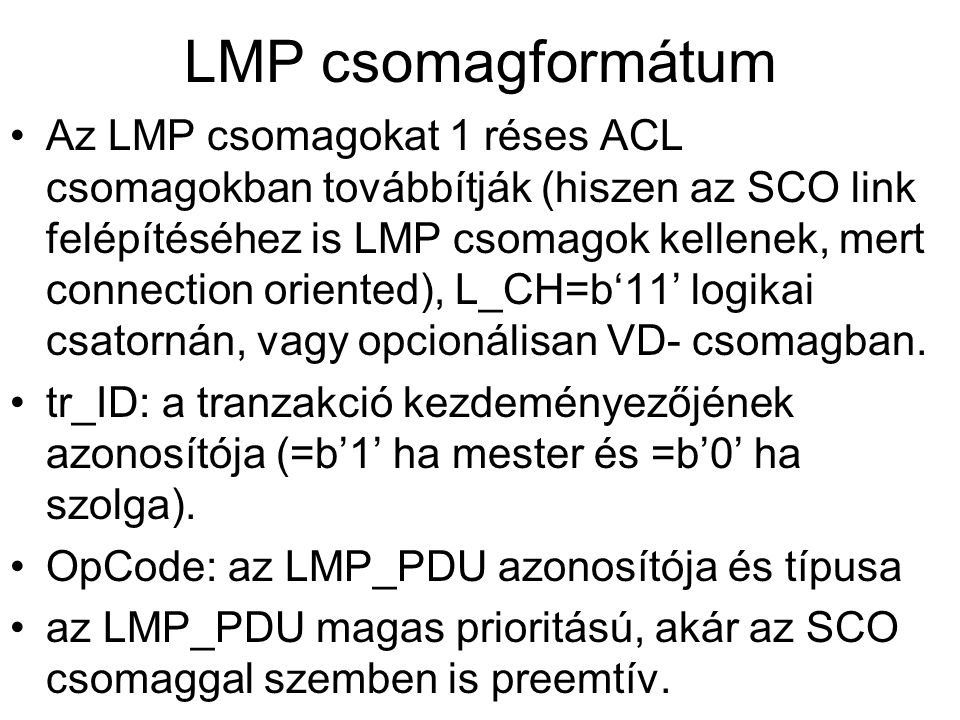 LMP csomagformátum