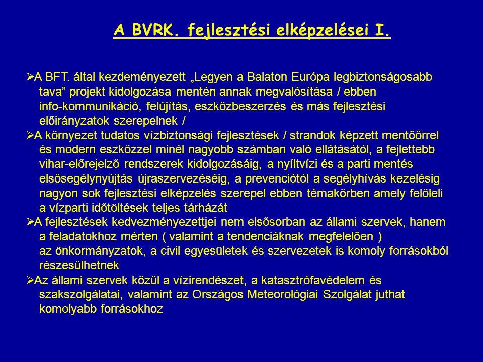 A BVRK. fejlesztési elképzelései I.