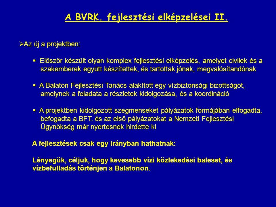 A BVRK. fejlesztési elképzelései II.