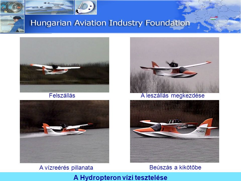 A Hydropteron vízi tesztelése