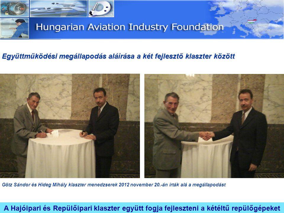 Együttműködési megállapodás aláírása a két fejlesztő klaszter között