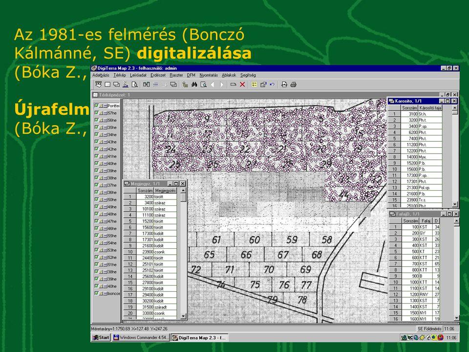 Az 1981-es felmérés (Bonczó Kálmánné, SE) digitalizálása (Bóka Z