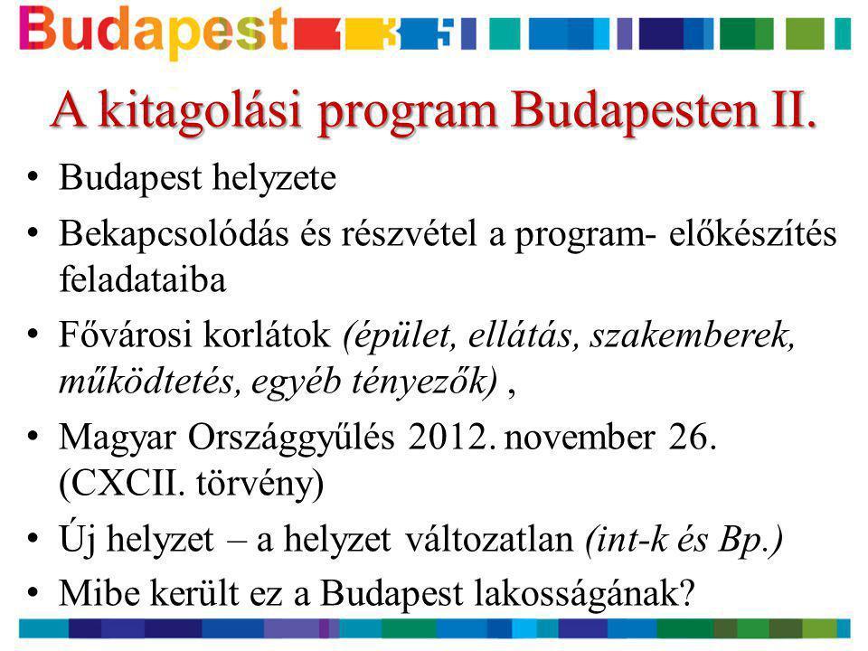 A kitagolási program Budapesten II.